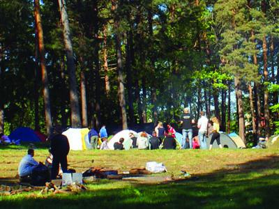 Pole namiotowe OTW PTTK Ruciane Nida